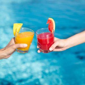 Baba Beach Club Sandbeds Drink