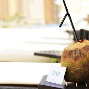 Riva Beach Dubai Sandbeds Fresh Coconut