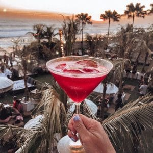 The Lawn Canggu Sandbeds drink